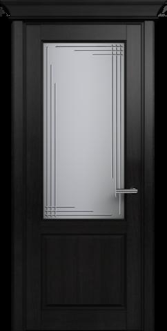 CLASSIC 521 Дуб Черный. стекло: Грань