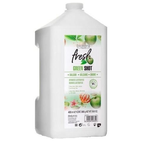 Шампунь Salerm Biokera Fresh Green Shot Shampoo, 4000 мл.