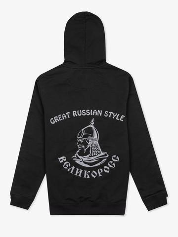 """Black zip hoodie """"VELIKOROSS"""""""