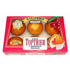 Кексы Махариши Тортини с вишневом джемом 200 г