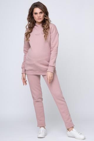Утепленный спортивный костюм для беременных и кормящих 11885 пыльно-розовый