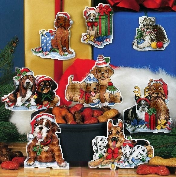 Набор для вышивания Елочные игрушки. Собачки. Арт. 4025