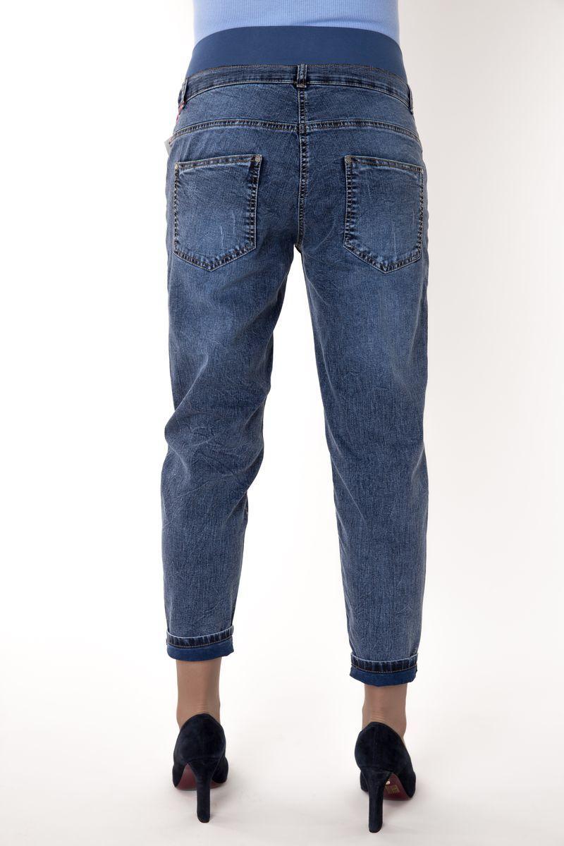 Фото джинсы для беременных MAMA`S FANTASY, укороченные boy-friends, низкая вставка от магазина СкороМама, синий, размеры.