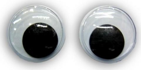 Глаза для игрушек подвижные самоклеящиеся. 9 мм