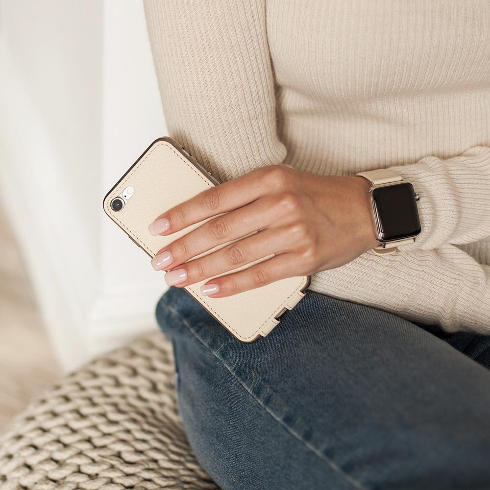 Case for iPhone SE - cream