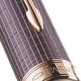 Parker Sonnet T536 Contort Purple Cisele Fblack (1930057)