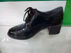 Женские туфли на каблуке Olteya 12403-dark blue