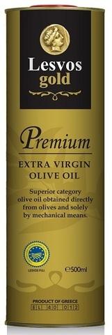 Оливковое масло extra virgin P.G.I Lesvos gold 500 мл жесть