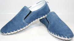 Синие мокасины мужские Alvito 01-1308 92-86