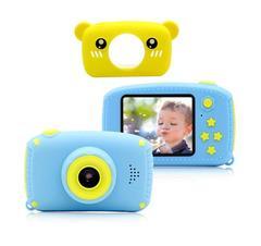 Фотоаппарат детский SmileZoom Мишка / Желтый / Без селфи-камеры