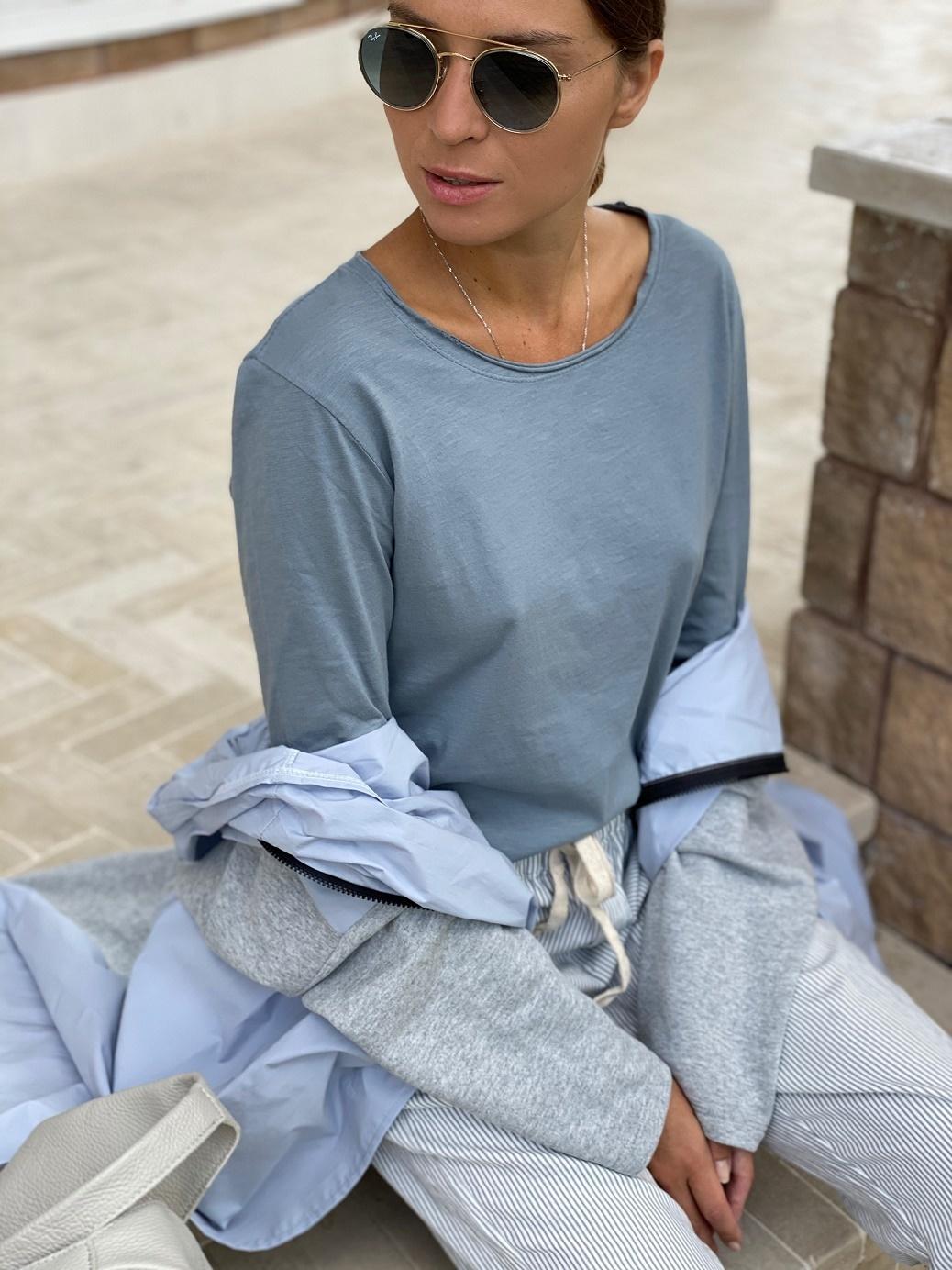 Лонгслив, Ballerina, Cotton road (серый)