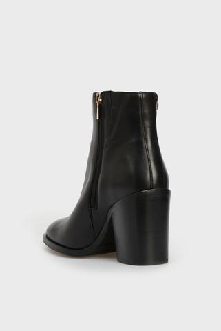 Женские черные кожаные ботильоны Tommy Hilfiger