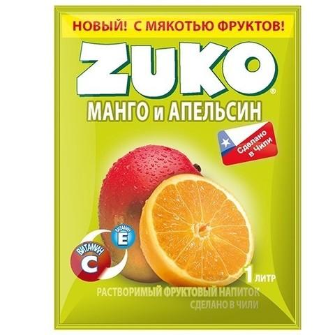 Растворимый напиток Zuko Манго и апельсин 25 г