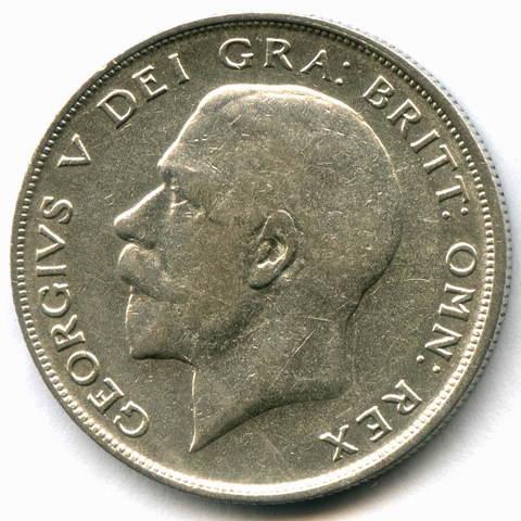 1/2 кроны 1921 Англия (Георг V) VF-XF серебро