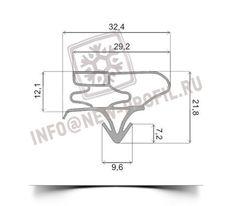 Уплотнитель 99*57 см для холодильника LG GR-B439 BVCA(холодильная камера) Профиль 003