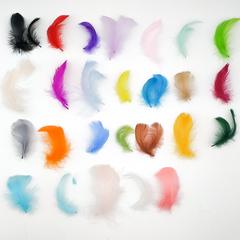 Перья гуся декоративные 4-7 см ,  около 100 шт. (выбрать цвет)