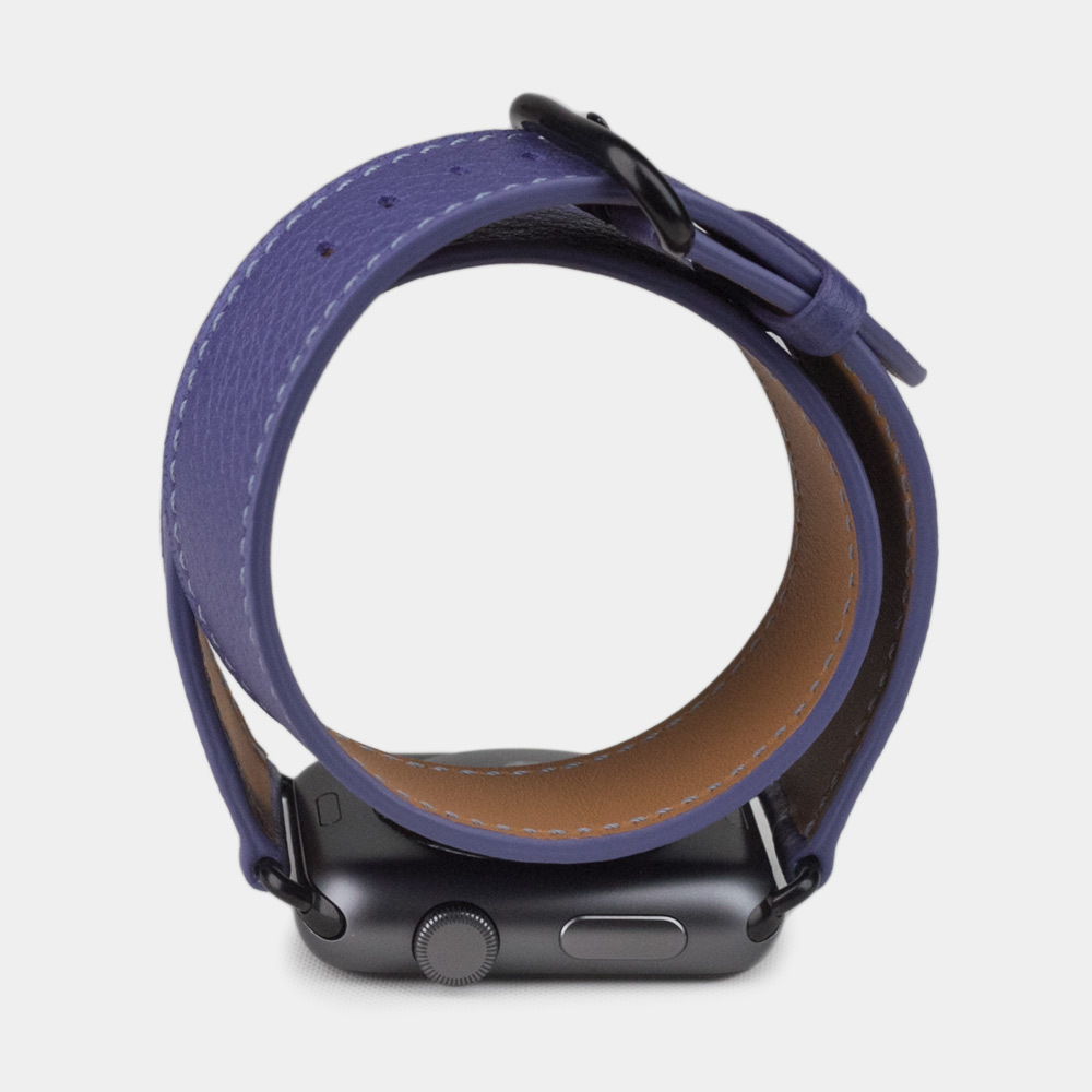 Ремешок для Apple Watch 42мм ST Double Strap из натуральной кожи теленка, цвета сирени