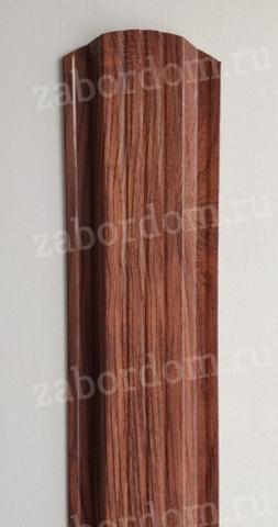 Евроштакетник металлический 115 мм Темное дерево 3D П - образный 0.5 мм