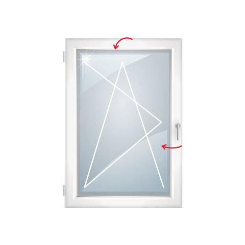 Пластиковое окно  750х1100 двухкамерное поворотно-откидное