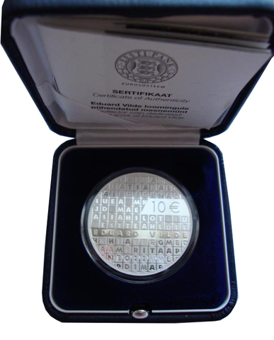 10 евро 2015 год. Эдуард Вильде. Эстония. Серебро