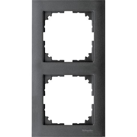 Рамка на 2 поста. Цвет Антрацит. Merten. M-Pure System M. MTN4020-3614