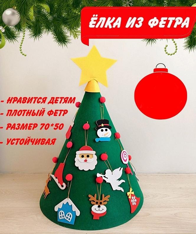 Товары для Price.ru Фетровая елка с игрушками (конус) elka-fetrovaya4.jpg