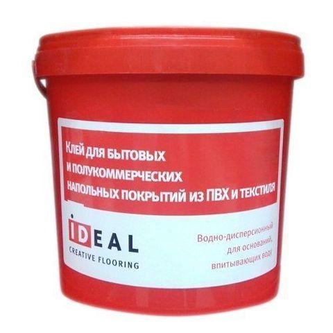 Клей Ideal для быт. и полукоммерч. напольных покрытий из пвх и текстиля 5л (7 кг)