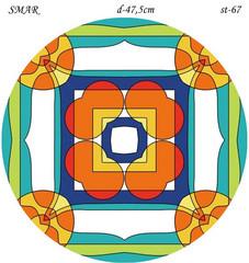 Эскиз для росписи, Круг диаметр-47,5см, SMAR-st-67