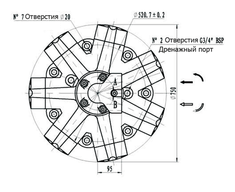 Гидромотор IPM9-5500