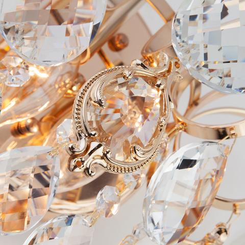 Бра с хрусталем 10081/2 золото/прозрачный хрусталь Strotskis