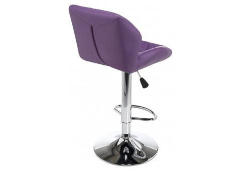 Барный стул Trio фиолетовый 41*41*87 Хромированный металл /Фиолетовый кожзам
