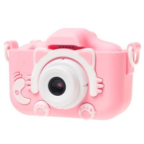Детский фотоаппарат kitty котик розовый Children's Fun Camera Kitty