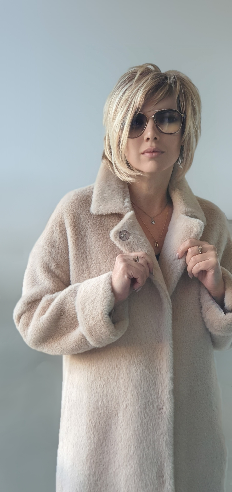 Пальто норка прямое