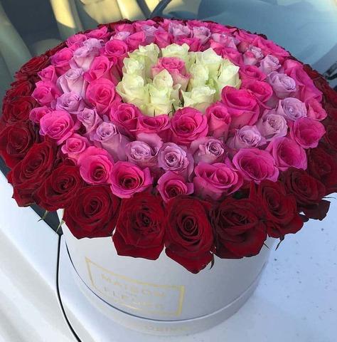 51/101 микс роза в коробке