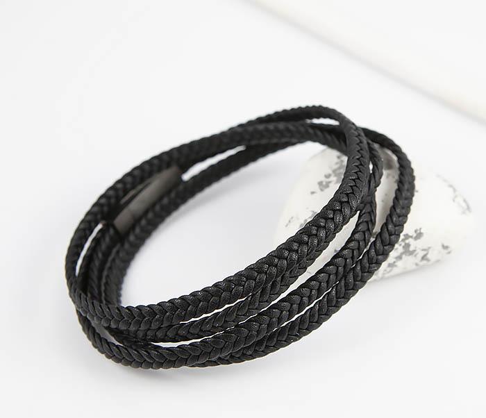 BM523-1 Мужской браслет из кожаного шнура (20 см)