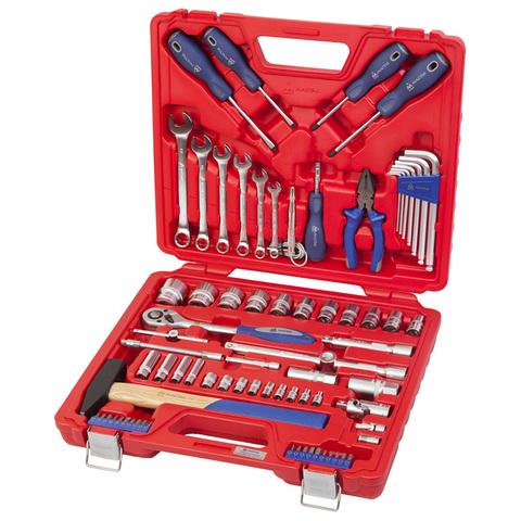 МАСТАК (0-077C) Набор инструментов универсальный, 77 предметов