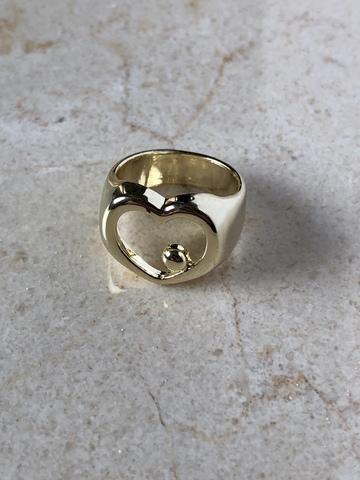 Кольцо Вейа, позолота