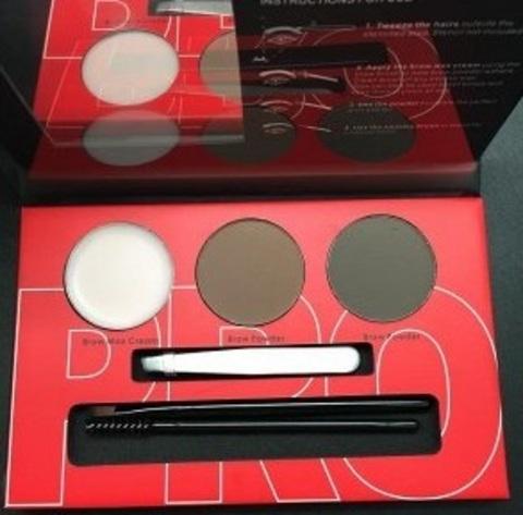 OG-EB2102 Палетка теней+воск д/моделир-я бровей проф. №01 Brow Professional Palette