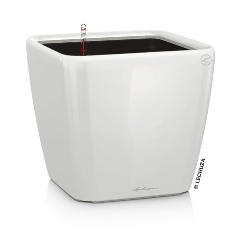 16280 Кашпо LECHUZA Квадро 50 LS Белое с системой полива и съемным горшком
