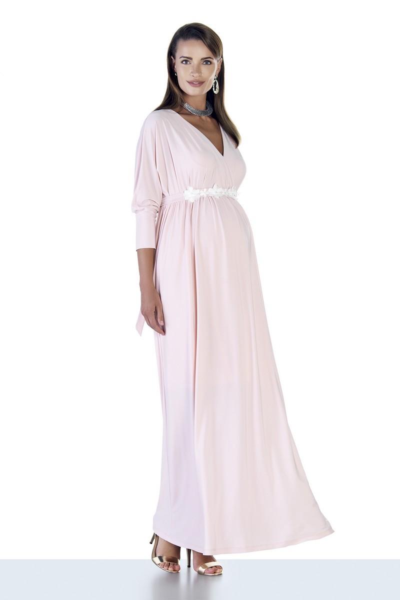 Платье для беременных 09531 пудра
