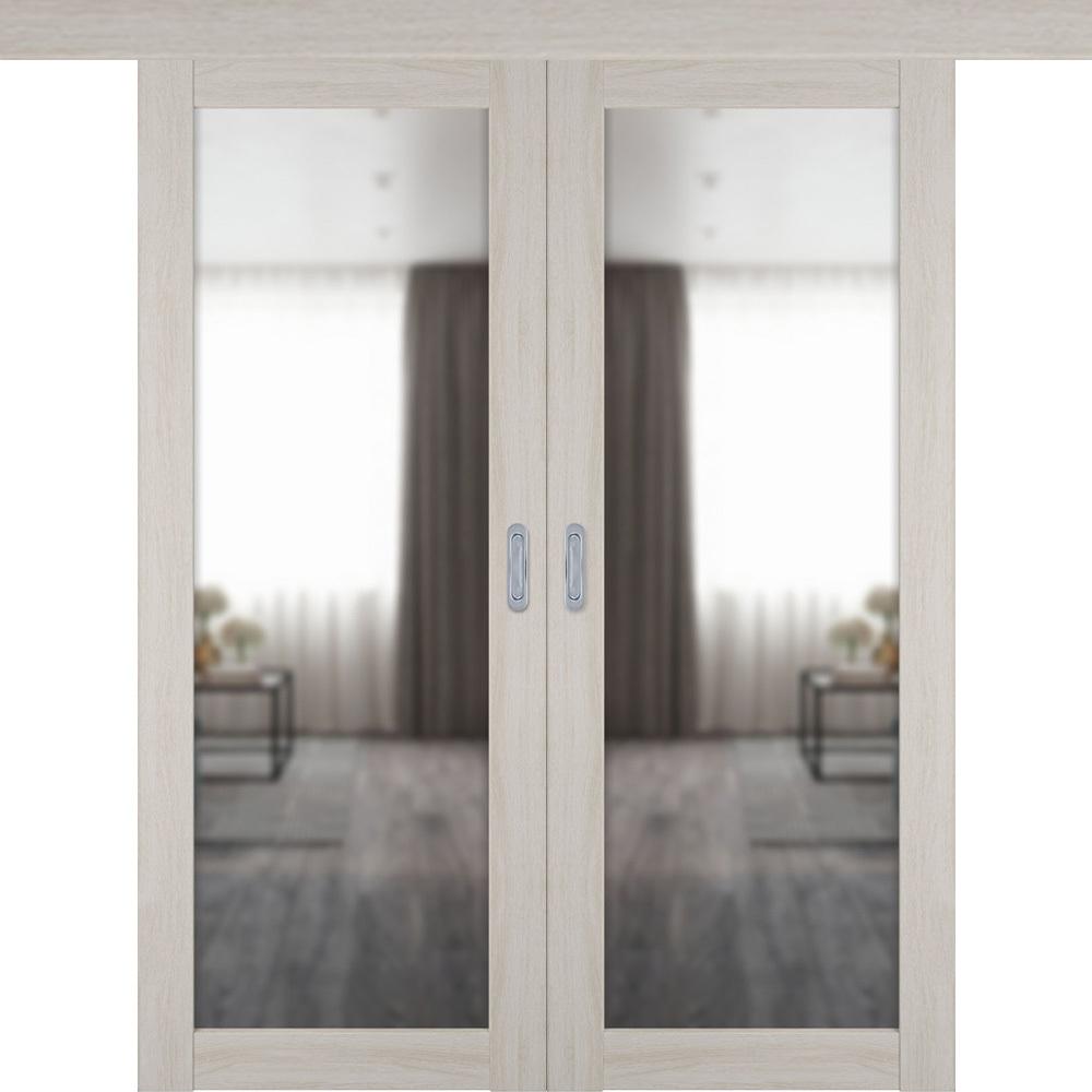Двери с зеркалом Межкомнатная двустворчатая дверь купе экошпон VFD 32X scansom oak с зеркалом с одной стороны atum-pro-x32-scanscum-mirror.jpg