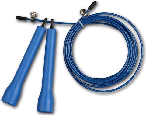 Скакалка высокооборотная Кроссфит INDIGO (синяя)