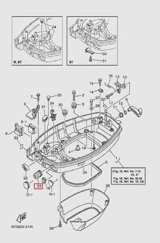 Заглушка для лодочного мотора T40 Sea-PRO (13-23)