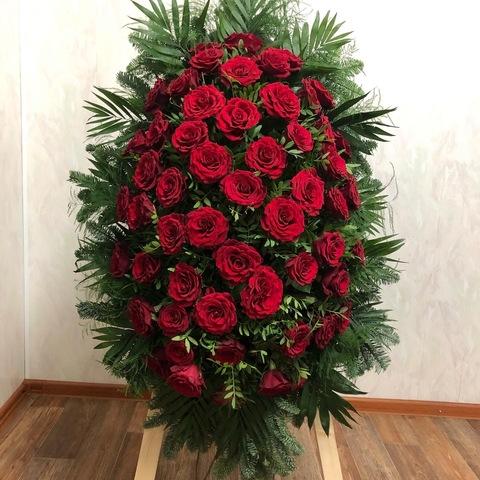 Венок из живых цветов элит ВЖ-33