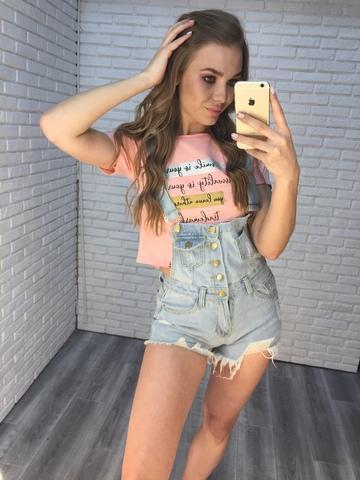 джинсовый комбинезон шорты женский недорого