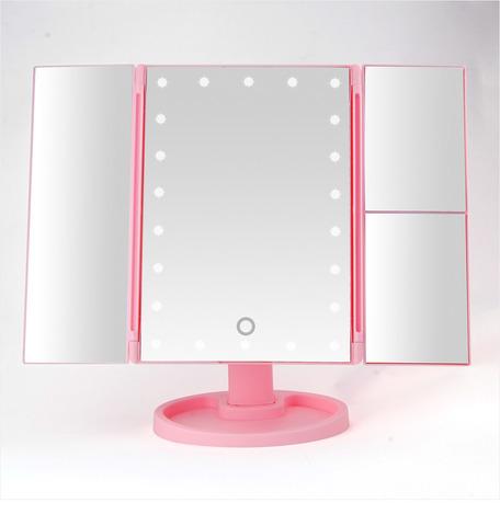 Косметическое зеркало для макияжа с подсветкой