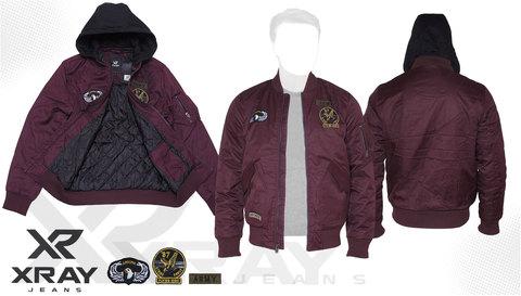 Куртка утепленная 'M-1 Flight Jacket Hooded & Patches' Burgundy