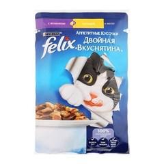 Корм для кошек Felix Двойная Вкуснятина ягненок с курицей, 85 г