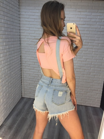 джинсовый комбинезон шорты женский купить