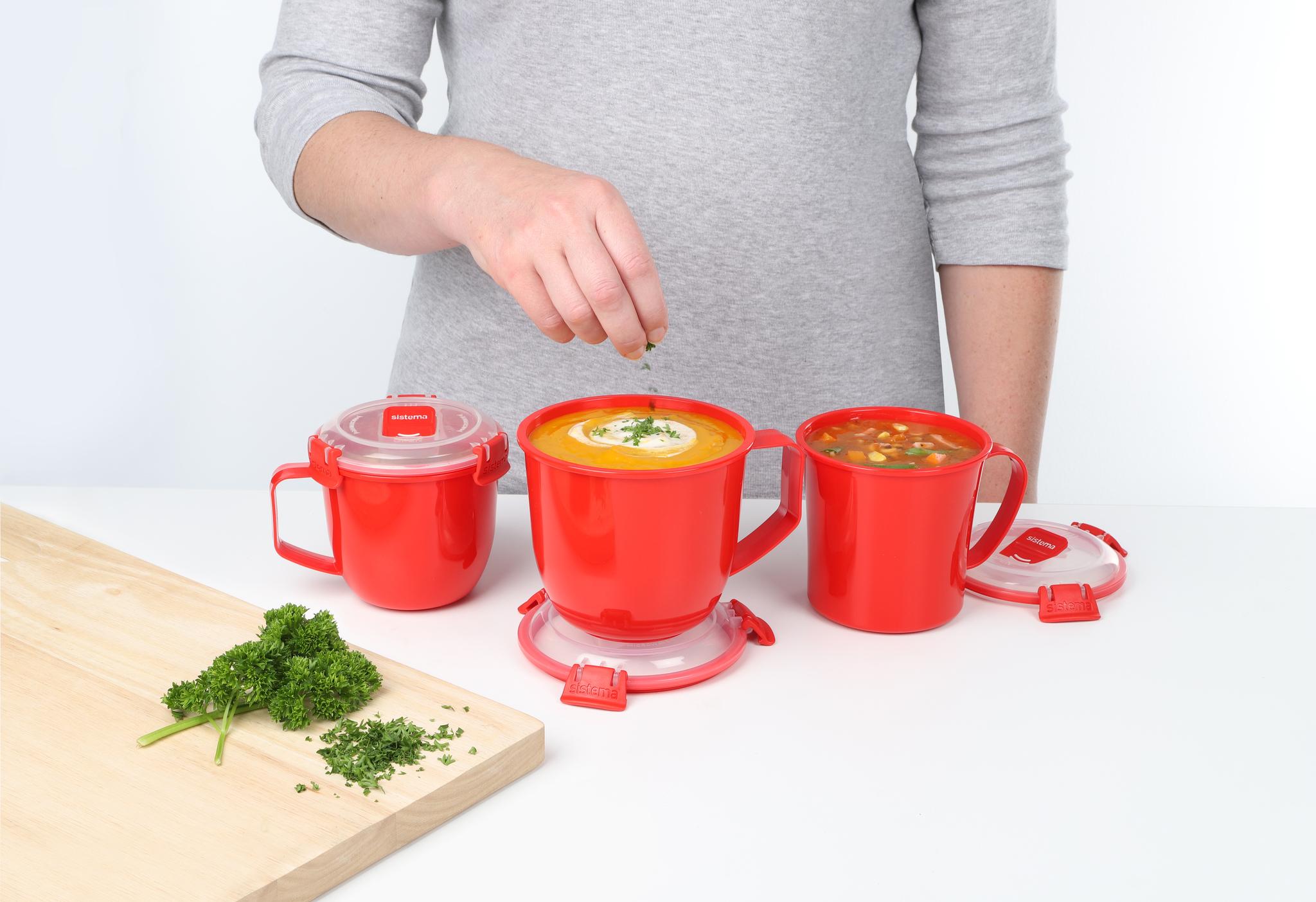 """Кружка суповая для СВЧ Sistema """"Microwave"""" 565 мл"""